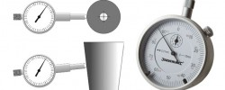 Dial Indicator on Mandrels for Cup Printer