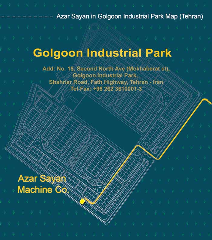 Azar Sayan in Golgoon Industrial Park's Map